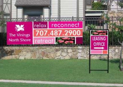 Outdoor sign sample Banner