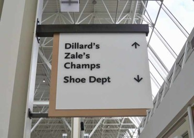 Indoor Mall sign sample