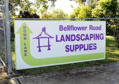 Outdoor sign sample Fence