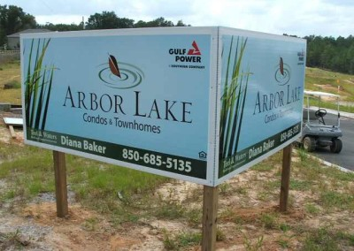 Outdoor sign sample Temporary development signs