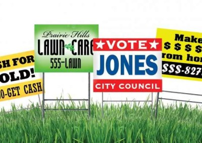 Outdoor sign sample temporary signs