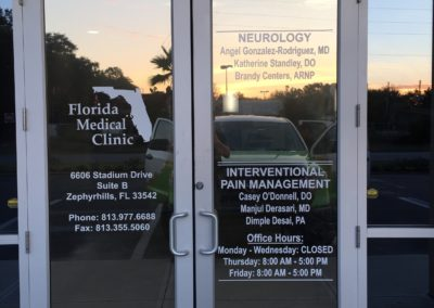 Widows Graphics for Florida Medical Clinic