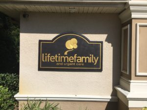 Sandblasted or Routed HDU sign for Lifetime Family in Wesley Chapel, FL