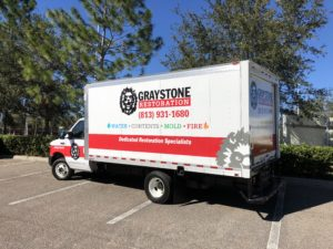 Graystone Restoration box truck graphics
