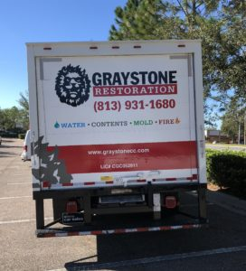 Graystone Restoration box truck vehicle graphics