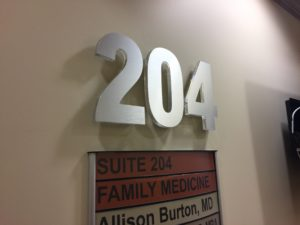 Lobby Sign Acrylic Letters with Brushed Aluminum for Florida Medical Clinic in Wesley Chapel, FL