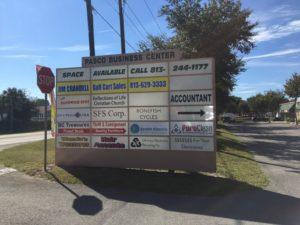 Monument signs for Jim Crandell Golf Cart Sales in Zephyrhills, FL