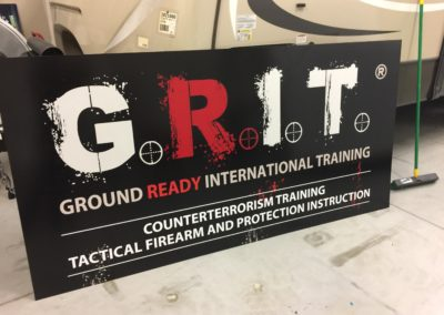 Reflective outdoor Sign for Grit