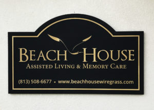 Routed (sandblasted) sign for Beach House