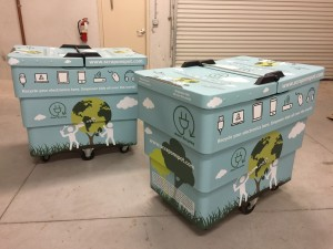 Custom Graphics Recycling Bin Wrap