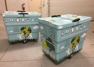 Custom Graphics Recycling Bin