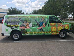 Extended van wrap
