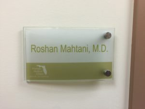 Glass door signs for Florida Medical Clinic