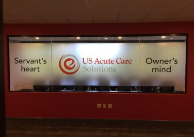 Frosted window US Acute Care