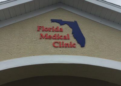 Routed Sign for Florida Medical Clinic