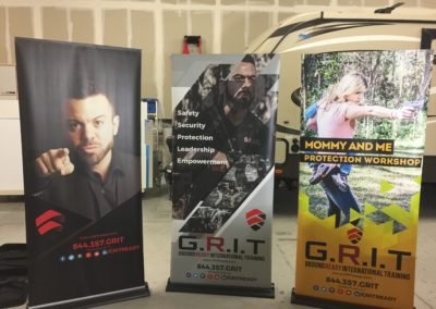 GRIT Retractable Banners