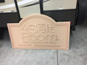 Preparation for Routed/Sandblasted Sign for The Salt Room in Tampa, FL