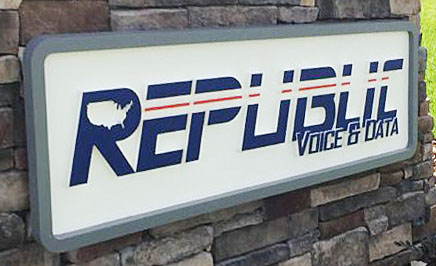 Republic Routed Sign