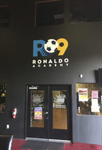 Ronaldo Academy Routed Indoor Sign