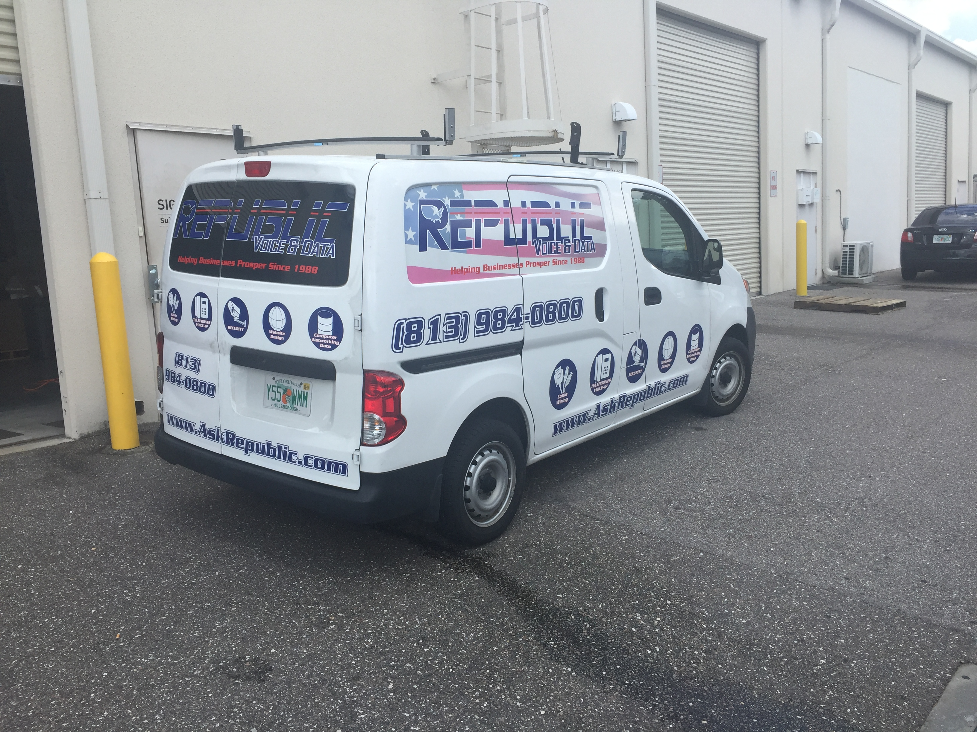 Vehicle Graphics In Tampa Fl Republic Voice And Data