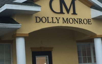 Exterior Routed Custom 3D Signs for Dolly Monroe Makeup Studios – Tampa, FL