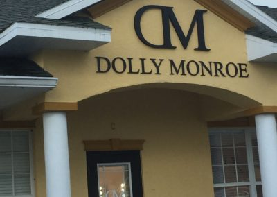 Dolly Monroe Routed Sign