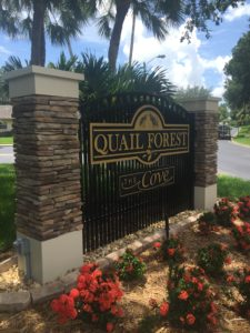 Quail Forest Routed Monument Sign