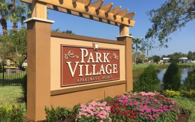 Custom Signs – Routed Monument Sign for Park Village in Tampa Bay, FL
