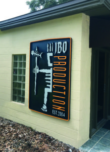 Exterior routed sign for JBO Production