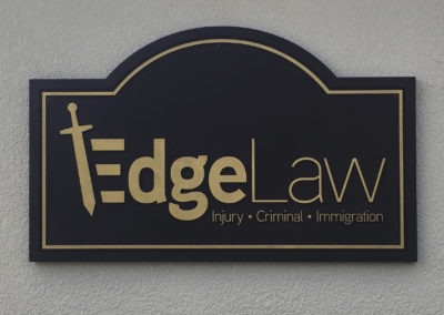 Edge Law routed sign