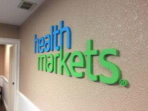 Lobby Sign Health Markets